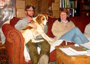Scott & Niki with rescue dog, Addie Mae